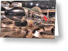 Dennis The Menace, North American F-86d Sabre Greeting Card