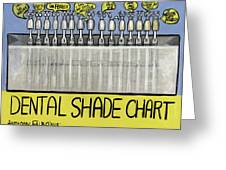 Dental Shade Chart Greeting Card by Anthony Falbo