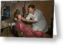 Dentist - Making An Impression - 1936 Greeting Card