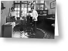 Dentist Office At Sanatarium Greeting Card