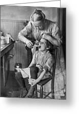 Dentistry, 1920s - To License For Professional Use Visit Granger.com Greeting Card