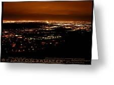 Denver Area At Night From Lookout Mountain Greeting Card