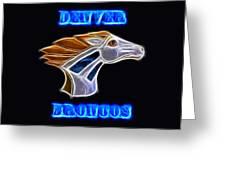 Denver Broncos 2 Greeting Card