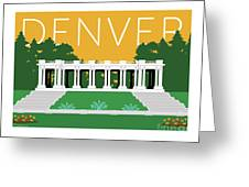 Denver Cheesman Park/gold Greeting Card by Sam Brennan