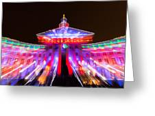 Denver City And County Building Lights Greeting Card