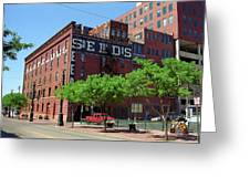 Denver Downtown Warehouse Greeting Card