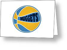 Denver Nuggets Retro Shirt Greeting Card