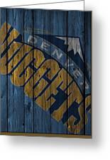 Denver Nuggets Wood Fence Greeting Card