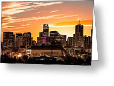 Denver Sunrise Iv Greeting Card