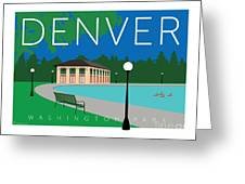 Denver Washington Park Greeting Card by Sam Brennan