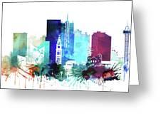 Denver Watercolor Skyline Greeting Card