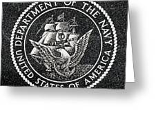 Department Of The Navy Emblem Polished Granite Greeting Card