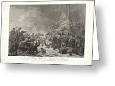 Departure Of Prince William V, 1795, Joannes Bemme, After Dirk Langendijk, After Christoffel Meijer, Greeting Card