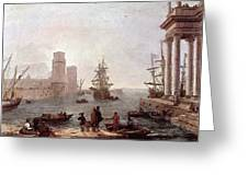 Departure Of Ulysses From The Land Of The Feaci  Greeting Card