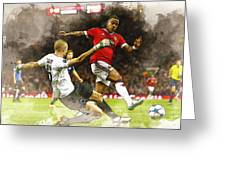 Depay In Action Greeting Card
