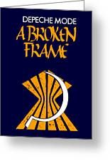 A Broken Frame Logo With Name Greeting Card