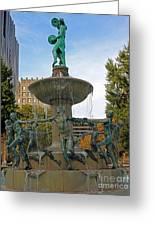 Depew Memorial Fountain Greeting Card