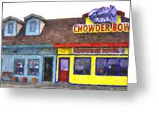 Depoe Bay Oregon - Chowder Bowl Greeting Card