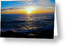 Depoe Bay Sunset Greeting Card