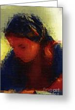 Depression And Grief Greeting Card by Deborah MacQuarrie-Selib