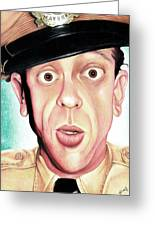 Deputy Of Mayberry Greeting Card by Marvin  Luna