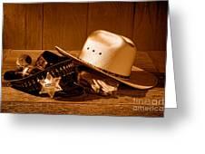 Deputy Sheriff Gear - Sepia Greeting Card