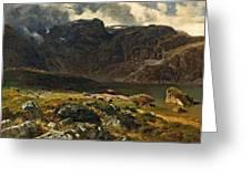 Der Hintere Murgsee. St. Galler Alpen. 1878 Greeting Card