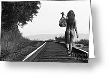 Derailed Greeting Card by Naman Imagery