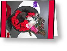 Derby Day Hat - 3 Greeting Card