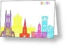 Derby Skyline Pop Greeting Card