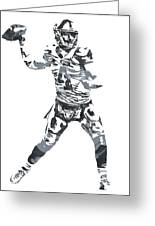 Derek Carr Oakland Raiders Pixel Art 11 Greeting Card