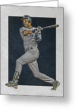 Derek Jeter New York Yankees Art 2 Greeting Card
