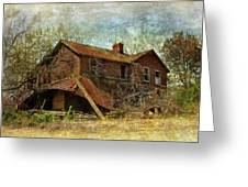 Derelict House Side Greeting Card