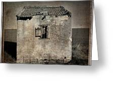 Derelict Hut  Textured Greeting Card