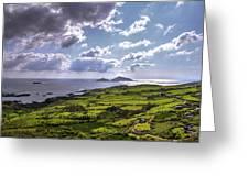 Derrynane National Park Along Ring Of Kerry, Ireland Greeting Card