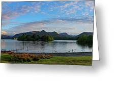 Derwentwater Spring Sunset Greeting Card