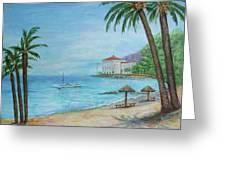 Descanso Beach, Catalina Greeting Card