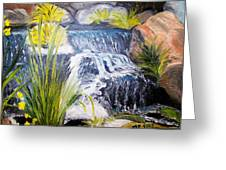 Descanso Waterfall Greeting Card