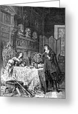 Descartes Teaching Queen Christina, 1649 Greeting Card