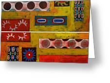 Descendance Dyptich Greeting Card