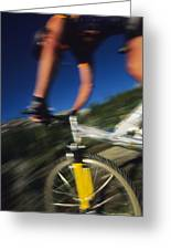 Descending A Mountain Trail Into Yankee Greeting Card