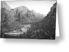 Descending From Angels Landing Greeting Card