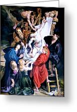 Descent From The Cross After Peter Paul Rubens Greeting Card