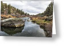 Deschutes River At Eagle Crest Greeting Card