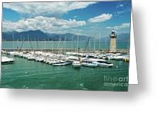 Desenzano Del Garda Lighthouse Italy Greeting Card