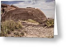 Desert Badlands Greeting Card