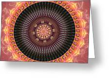 Desert Bloom Mandala Greeting Card