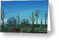Desert Blue Greeting Card