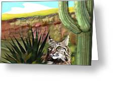 Desert Bobcat Greeting Card