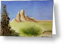 Desert Butte Greeting Card